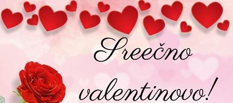 Srečno valentinovo voščilo