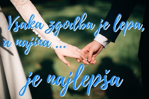 Verzi za poroko poročen par