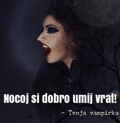 verzi za noč čarovnic vampirka
